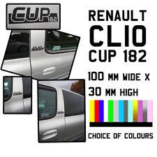 RENAULT CLIO CUP 182 Nero Sport Auto Porta Decalcomania Adesivo RS Mk2 Pilastro finestra