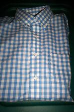 NWT! BERKLEY JENSEN NO IRON BUTTONDOWN DRESS SHIRT-BLUE/WHITE CHECK-16 34/35