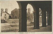 Cassine - Piazza del Municipio - Viaggiata 1934 Animata  Alessandria Cartolina