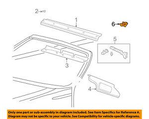 FORD OEM Thunderbird Roof-Sunvisor Sun Visor Clip Holder Right 3W6Z76030A64AAA