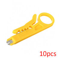 10pcs RJ45 LAN Network Cat5e Cat6 Cable Wire Punch Down Stripper Cutter Tool