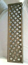 Vintage HEAVY Cast Iron Lattice fence piece or bench back or ????