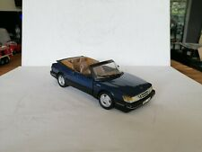 1:18 ANSON SAAB 900 TURBO CABRIOLET  IN  METALLIC BLUE V  NEAR  MINT