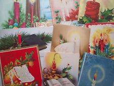 Lot of 10 candles  vintage christmas greeting cards L16