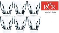 Set Of 6 RCR Crystal Ninphea Crystal Tumblers Whiskey / Wine Water Tumbler