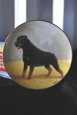 Danbury Mint Noble Companion Rottweiler Collector Plate New