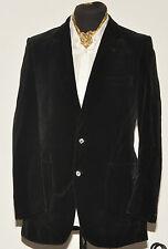 Vintage St Michael smoking veste Blazer en velours 38 noir long