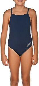 arena Girl's Mast MaxLife Thin Strap Open Racer Back One Piece Swimsuit