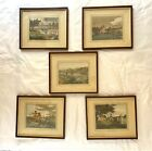 Antique Framed Lithograph Fly Fishing by Thomas McLean