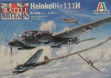 WWII GERMAN HEINKEL HE-111H BOMBER ITALERI 1:72 SCALE PLASTIC MODEL AIRPLANE KIT
