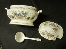 Vintage small tureen Japan autumn fruit harvest Thanksgiving table server