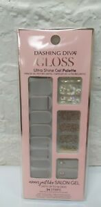Dashing Diva Gloss Ultra Shine Gel Palette 34 Nail Strips gs54 All Lined Up New