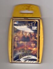 TOP TRUMPS CARD GAME. THE LORD OF THE RINGS. WHO`S THE BRAVEST?