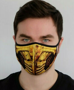 Scorpion face mask Scorpion face mask adult Mortal Kombat mask MK Gamer Mask