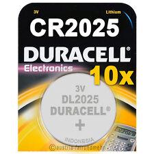 """10x CR2025 DURACELL Electronics DL2025 Lithium 3Volt"