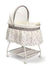 Baby Nursery Crib Furniture Musical Bassinet Bed Infant Cradle Newborn Bedding