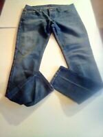 Womens Levis Jeans Too Superlow 524 Skinny Stretch 13M Dark Wash 30 x 31