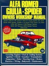 Alfa Romeo Giulia Spider Owner'S Workshop Manual New