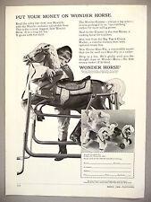 Wonder Horse Toy Rocking Horse PRINT AD - 1968 ~ hobby horses
