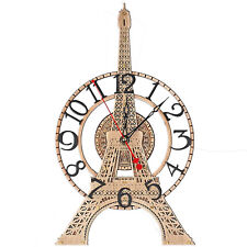 Eiffel Tower unique large wooden wall clock detailed scale model French décor