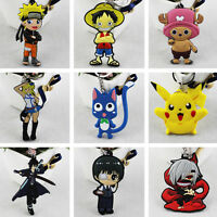 Death Note Fairy Tail  SAO G Cute Pikachu PVC Keychain Best Gift for Animal Fan