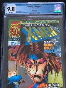 UNCANNY X-MEN #350-9.8 CGC-PRISM FOIL COVER-TRIAL OF GAMBIT-1997 - NO RESERVE