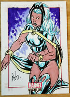 RITTENHOUSE MARVEL BRONZE AGE 1/1 SKETCH CARD SKETCHFEX *STORM* BY AVO *AMAZING