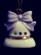 """Lenox Jeweled Advent Ornament Gold Trimmed Handcrafted """"Bell"""" Mint Condition!"""