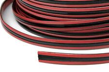 Zierleiste 15mm breit | schwarz rot | flexibel selbstklebend | Meterware