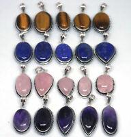 Tiger Eye & Mix Gemstone 925 Sterling Silver Overlay Lot Women Pendant BGJ-22