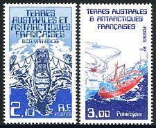 FSAT TAAF 123-124, MNH. Var research ship, Polarbjorn support ship, 1986