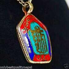Colorful Pendant Amulet Buddha made of brass Kalachakra Symbol a90