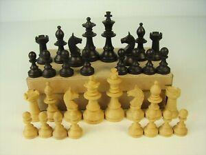 Antike Holz Schach Figuren vor 1945