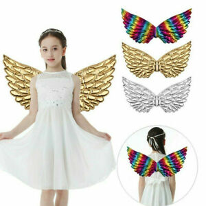 Natural Feather Angel Wings Kids Adult Costume Cosplay Dance Party Fancy Dress