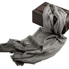 100% Cotton Fringed Scarf Wrap Plain Soft Fleece Long Scarves All Season for Men