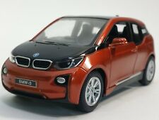 "Brand New 5"" Kinsmart BMW i3 Diecast Model Toy Car 1:32 Pull Action ORANGE"