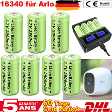 12x Arlo Kamera CR123A 16340 Wiederaufladbare 3.7V Taschenlampe Akku +Ladegerät