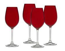 Godinger Glass Meridian Red Set of 4 Stemmed Wine Glasses