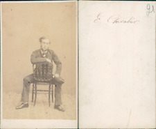 Chevalier, marin CDV, vintage albumen carte de visite  CDV, tirage albuminé, 6
