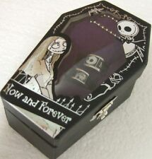 Nightmare Before Christmas Jack Sally Ring Set Now And Forever Coffin Box Disney