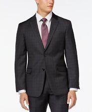 Tommy Hilfiger Charcoal Windowpane Modern-Fit Jacket, Size 38 L, MSRP $450
