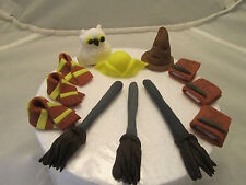 Harry potter accessories edible hand made childrens birthday cake toppers,