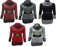 Acrylic Polo Neck/Roll Neck Dresses for Women