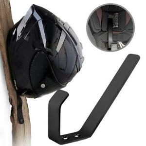 2Pcs Motorcycle Helmet Holder Jacket Hanger Hook Motorbike Wall Mount Rack Stand
