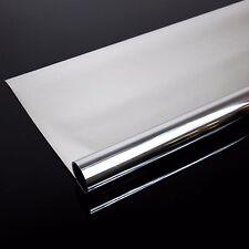 30m x 0,61m Spiegelfolie SILBER Fensterfolie Sichtschutzfolie Sonnenschutz Folie