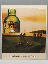 Vintage Magazine Ad Print Design Advertising Cutty Sark Scotch