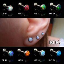 1PC Fire Opal Ear Cartilage Tragus Helix Piercing Earring Stud Body Jewelry