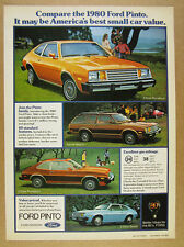 1980 Ford Pinto runabout wagon color photos vintage print Ad