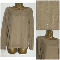 M&S Gold Shimmer Lightweight Jumper with Camisole Sizes 6 - 24  (ms-298h)