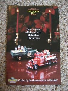 Matchbox Collectibles, 1997 Christmas Catalog / Brochure / Mail Order Flyer